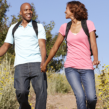 Getting outside in sunlight is beneficial for improving both mental and physical health