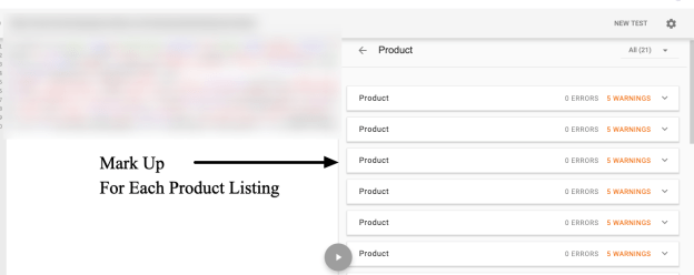 Every product in Shopify collections page marked up with Product structured data