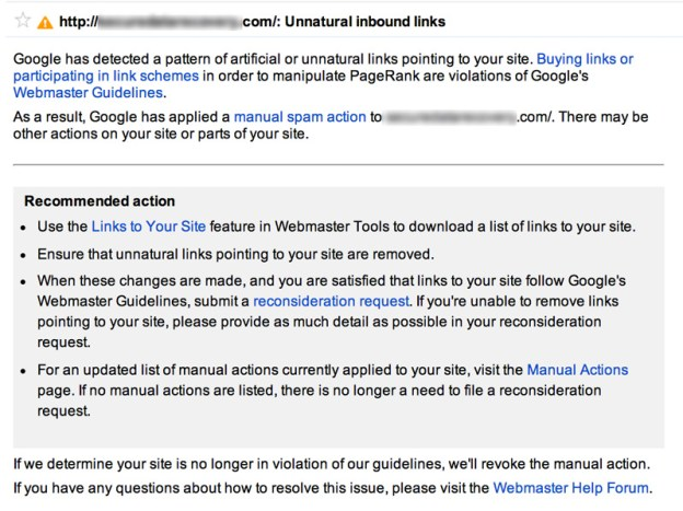 manual spam action message