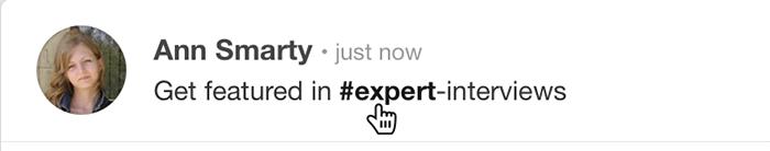 Pinterest hashtags are clickable in the description