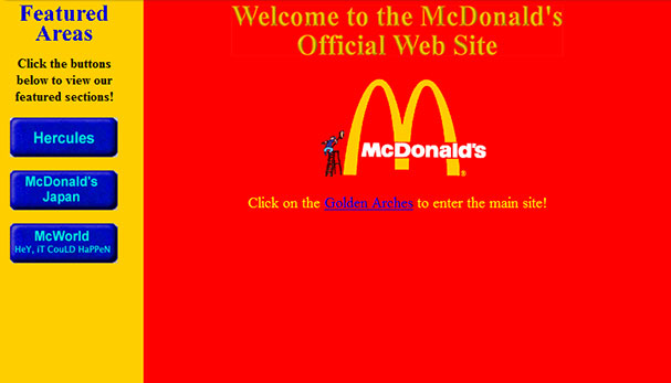 McDonald's Website in the 90's