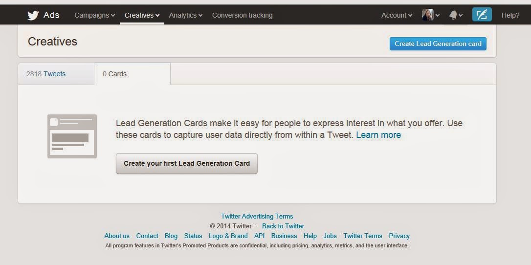 Create You First Lead Generation Card