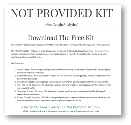 Not Provided Kit