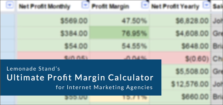 Ultimate Profit Margin Calculator by Lemonade Stand