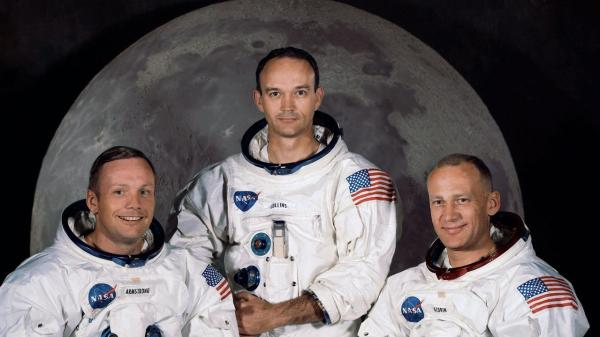 The crew of Apollo 11, from left, Neil Armstrong, Michael ...