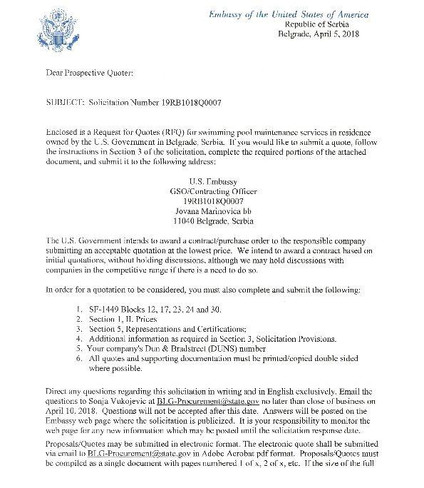 19rb1018q0007 Invitation Letter U S Embassy In Serbia