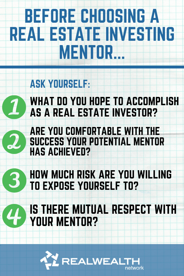 Before choosing a real estate investing mentor image