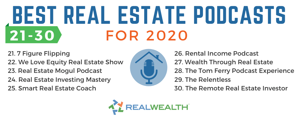 Infographic Highlighting Best Real Estate Podcasts for 2020 21-30 Infographic