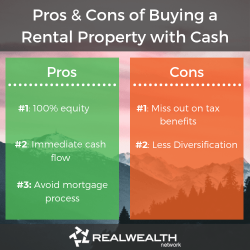 Pros and cons of buying a rental property with cash image