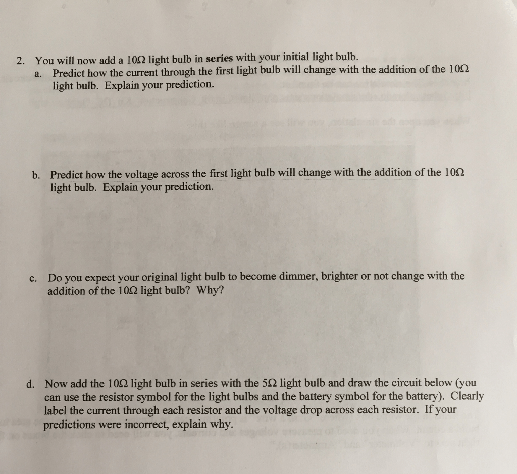 Solved Lab 3 Series And Parallel Circuits This Worksheet