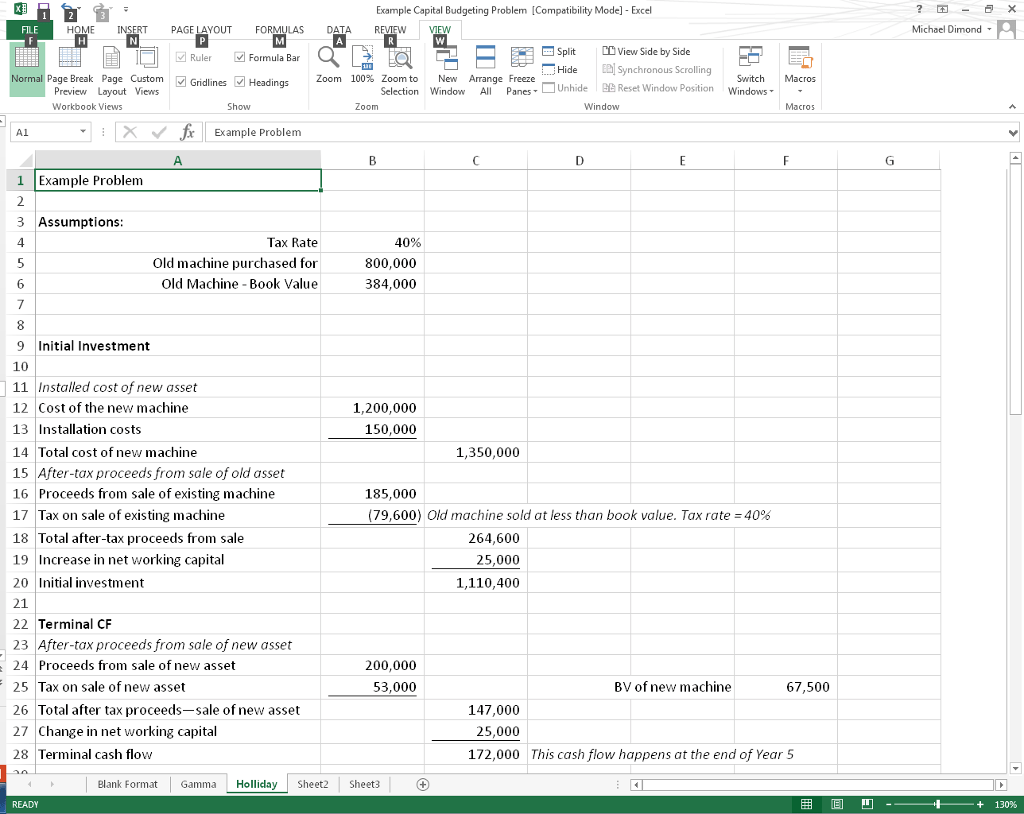 Excel Templates Capital Budgeting Excel Template
