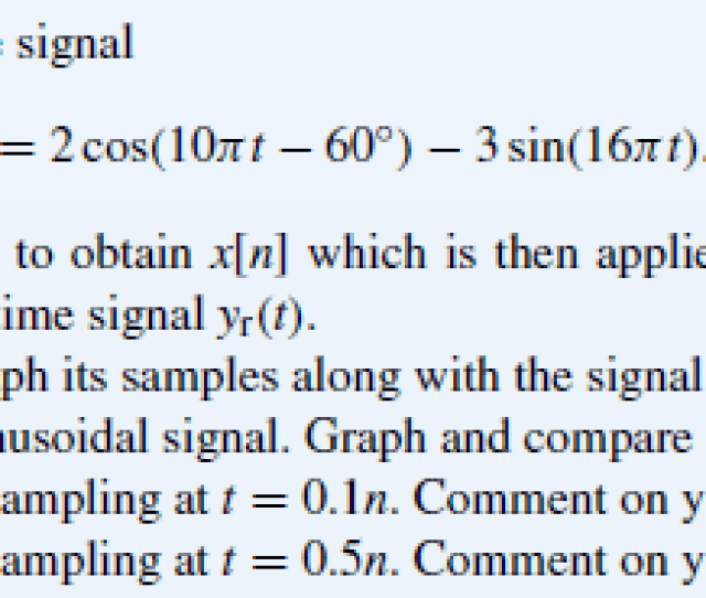 Consider A Continuous Time Signal Xct 2 Cos