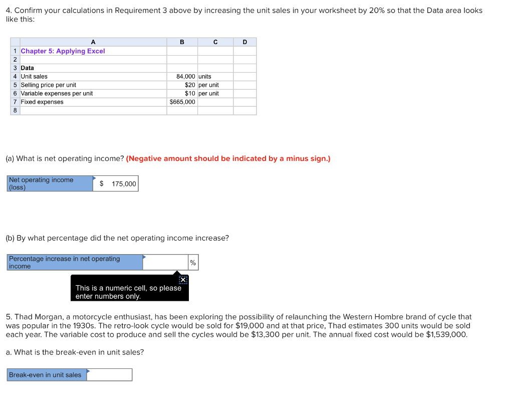 Solved 4 Confirm Your Calculations In Requirement 3 Abov