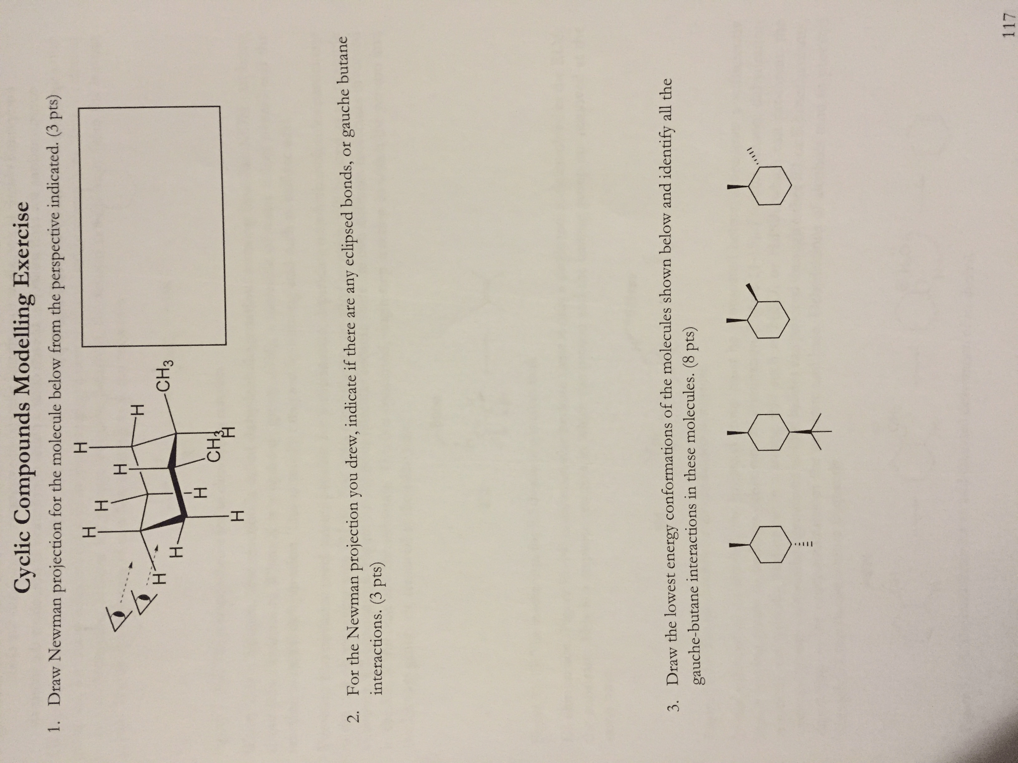How To Draw Newman Projections For Cyclic Compounds