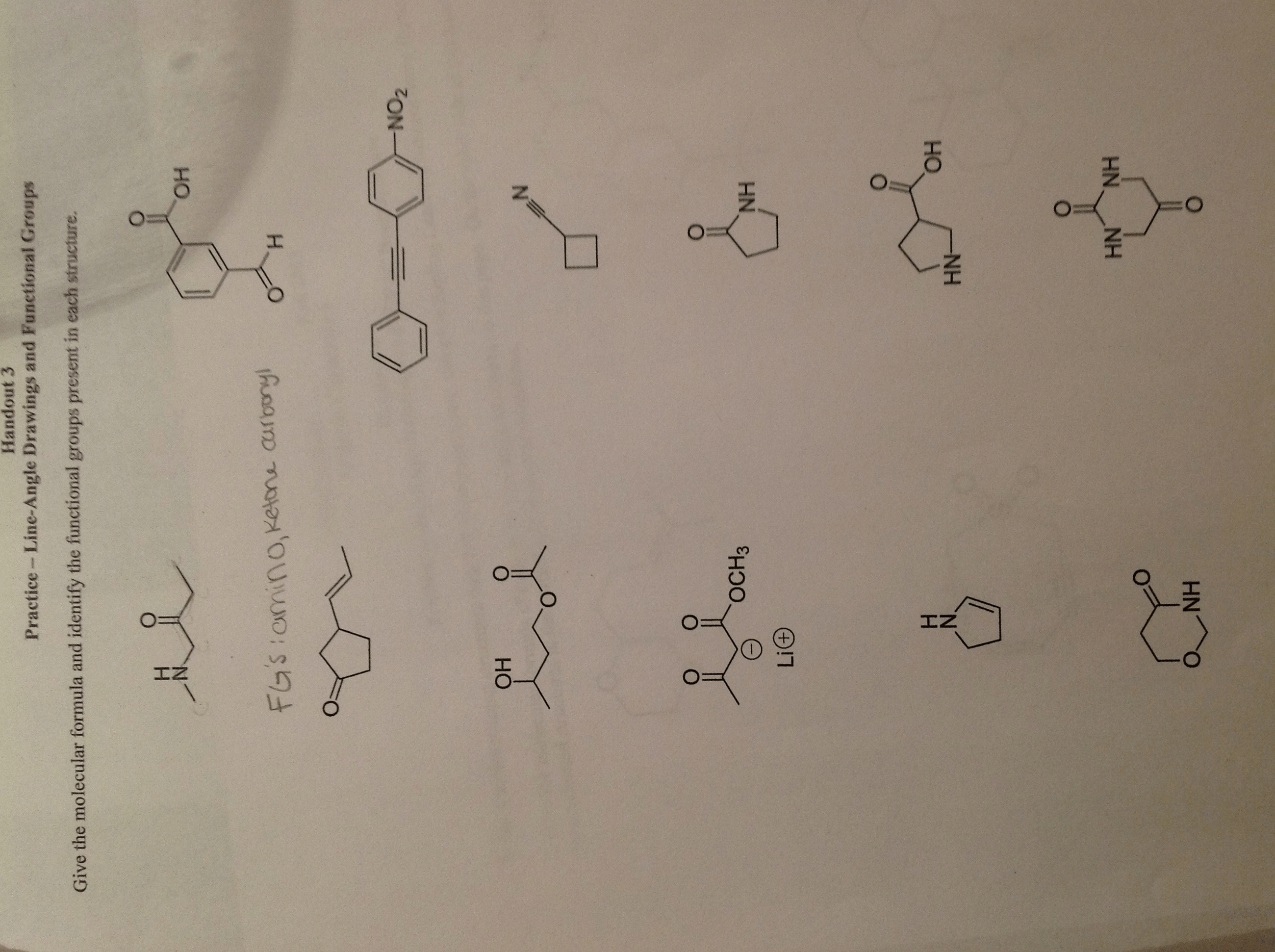 Identifying Functional Groups Worksheet With Answers