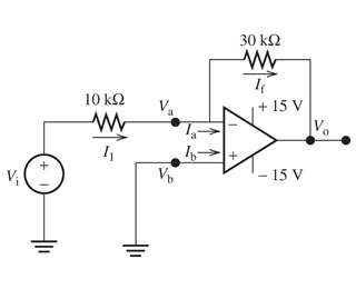 media%2F407%2F40722a48 28ce 4181 b783 2d438367dcd1%2FphpKprUyr - Using the circuit shown, find the following: (Circuit shown below) Part A - The voltage gain in the circuit. Part B - The output voltage for the input voltage Vi=4V, where VCC is 15 V. Part C - The output voltage for the input voltage Vi=?3sin(?t)V, where VCC is 15 V. Express your answer in terms of the variables ?, t. Part D - The output voltage for the input voltage Vi=?7V, where VCC is 15 V.