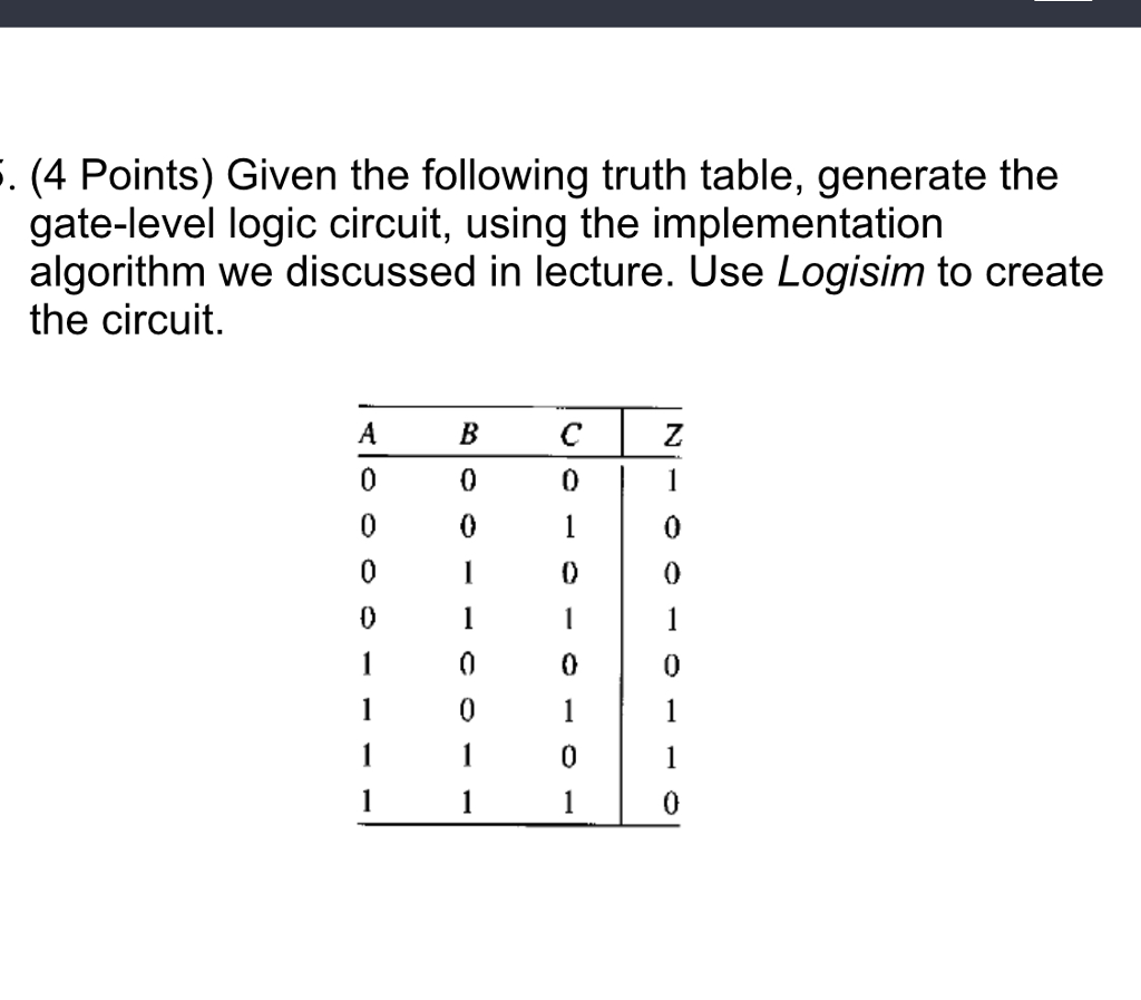 Logic Gate Truth Tables Generator