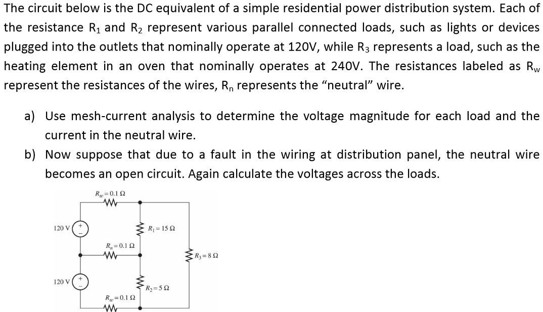 Solved: The Circuit Below Is The DC Equivalent Of A Simple