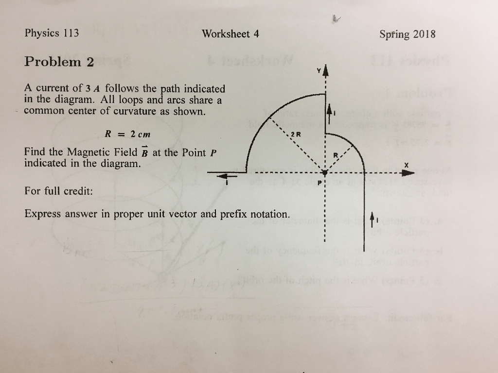 Solved Physics 113 Worksheet 4 Spfing Problem 2 A Cu
