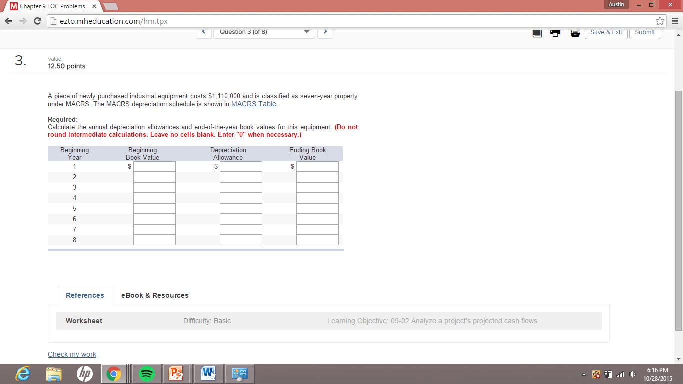 Solved M Chapter 9 Eoc Prob X C Eztoeducation Hm T