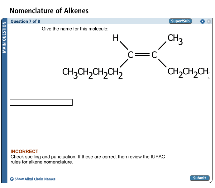 Solved Nomenclature Of Alkenes Give The Name Or This Mole