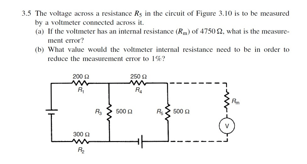 Solved: The Voltage Across A Resistance R_5 In The Circuit