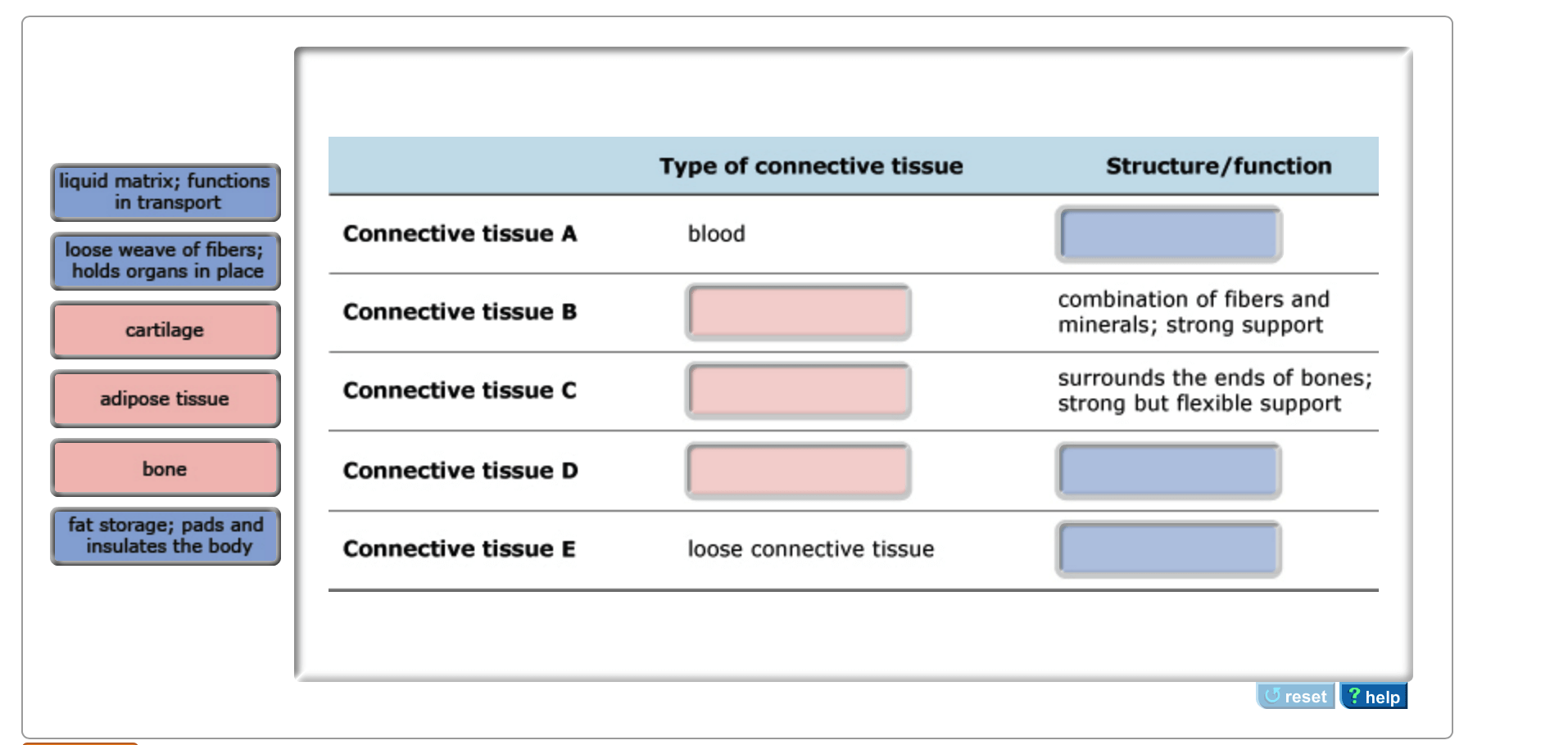 Solved The Diagram Shows Examples Of Different Types Of C