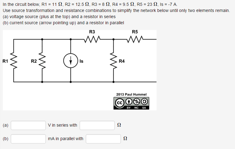 Solved: In The Circuit Below, R1 = 11 ?, R2 = 12.5 ?, R3