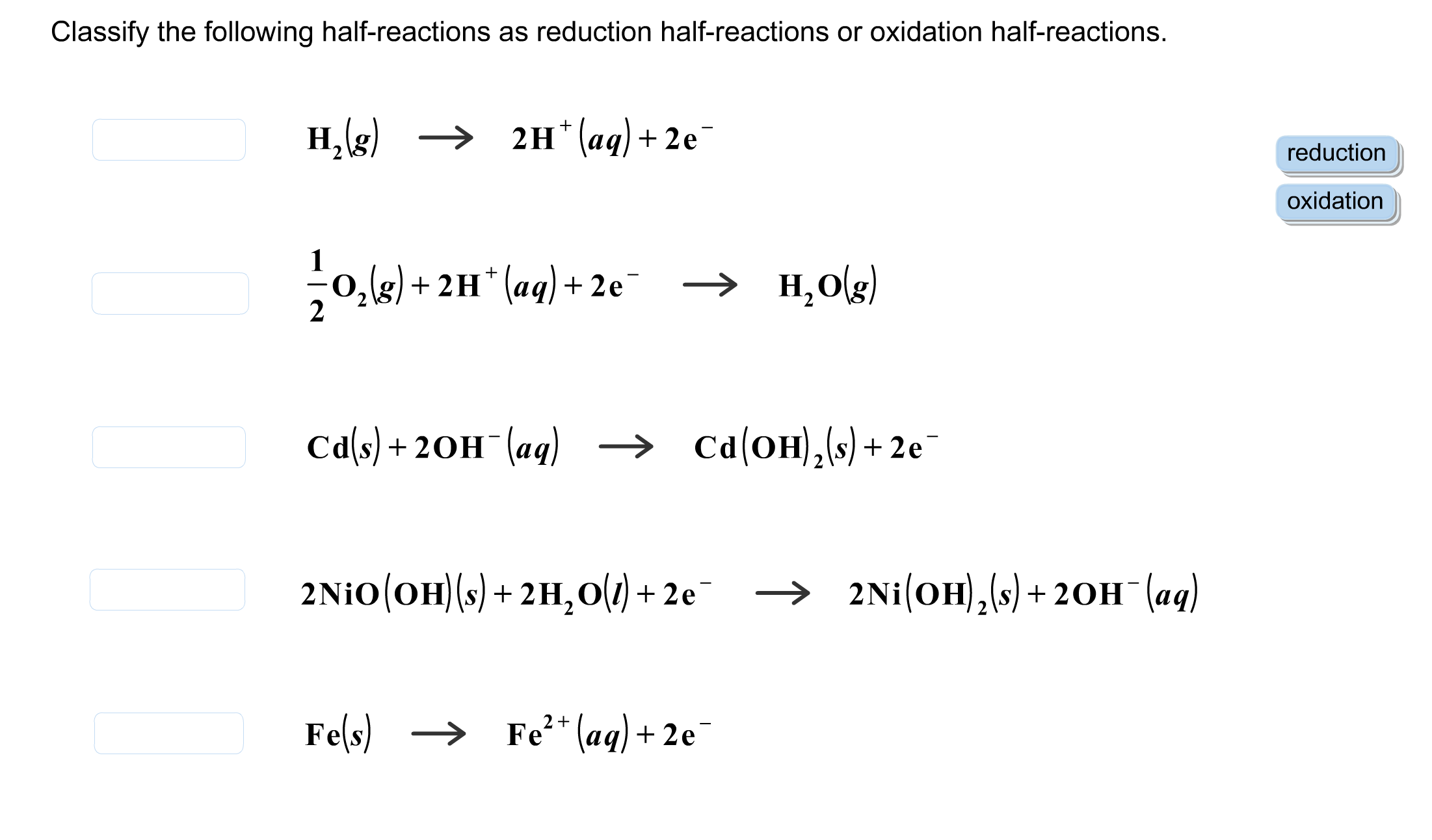 Oxidation And Reduction Worksheet Biology