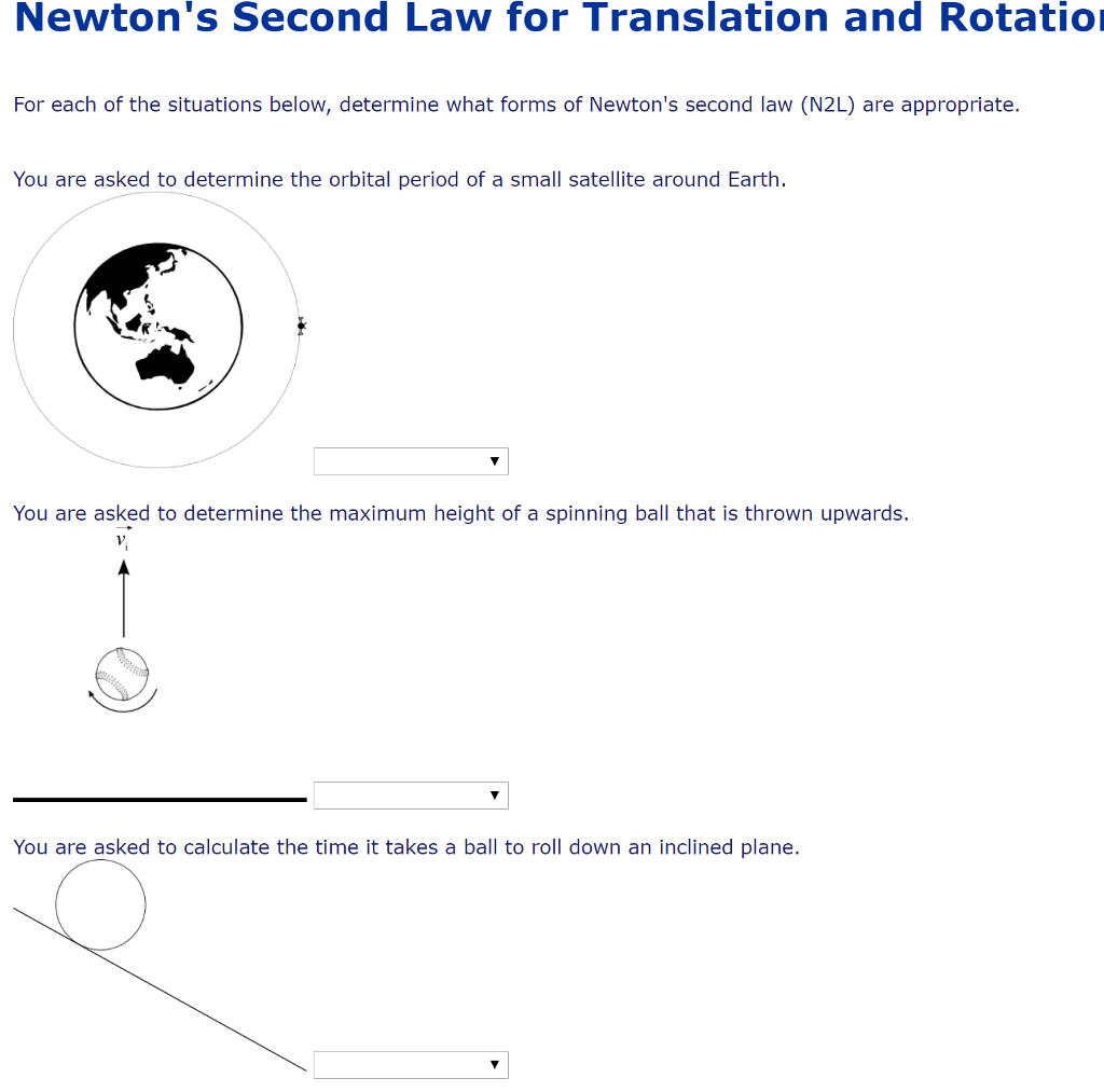 Solved Newton S Second Law For Translation And Rotatio Fo