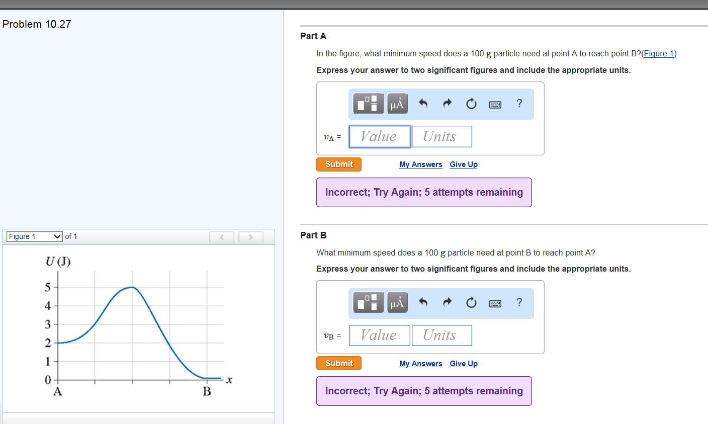 Solved Part A In The Figure What Minimum Speed Does A 10