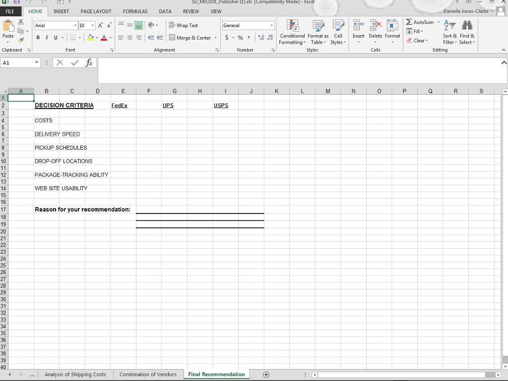 The Microsoft Excel Worksheet Lists The Daily Ship