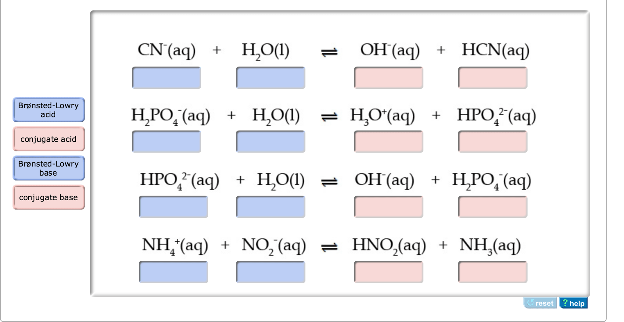 Solved For Each Of The Following Reactions Identify The
