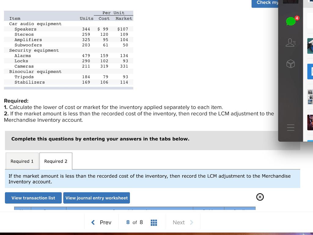 Solved Check My Per Unit Item Units Cost Market Car Audio