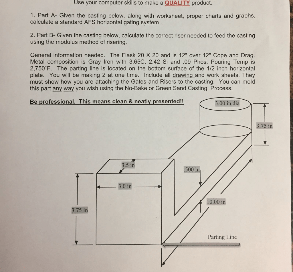 Solved Want To Calculate The Riser Need To Feed The Casti