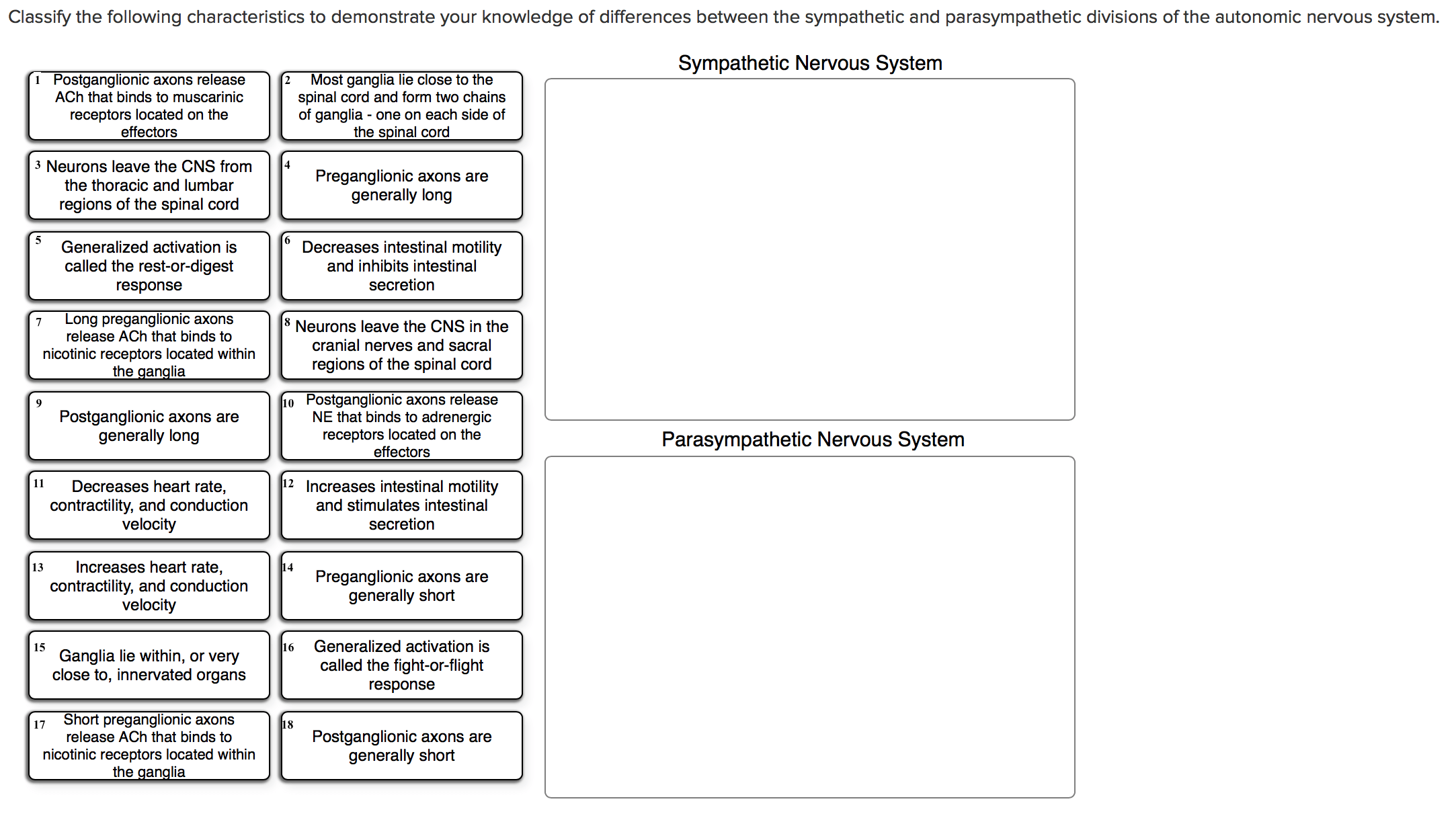 Solved Classify The Following Characteristics To Demonstr