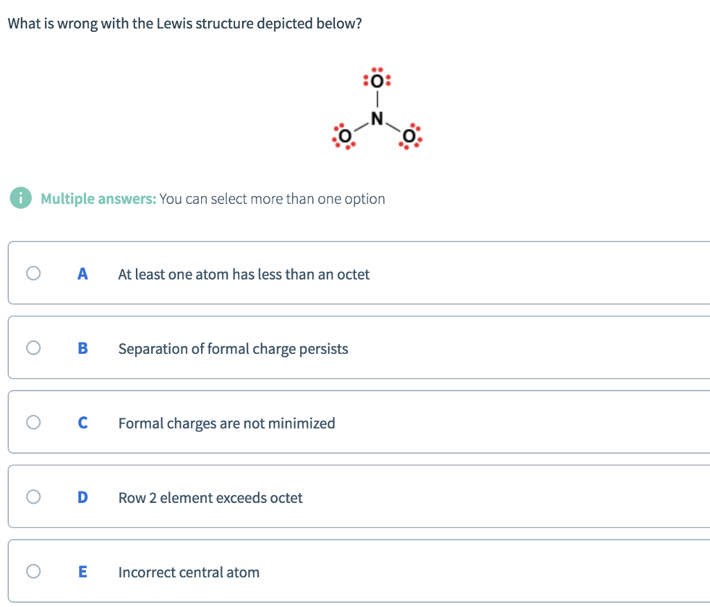 What Is Wrong With The Lewis Structure Depicted Be