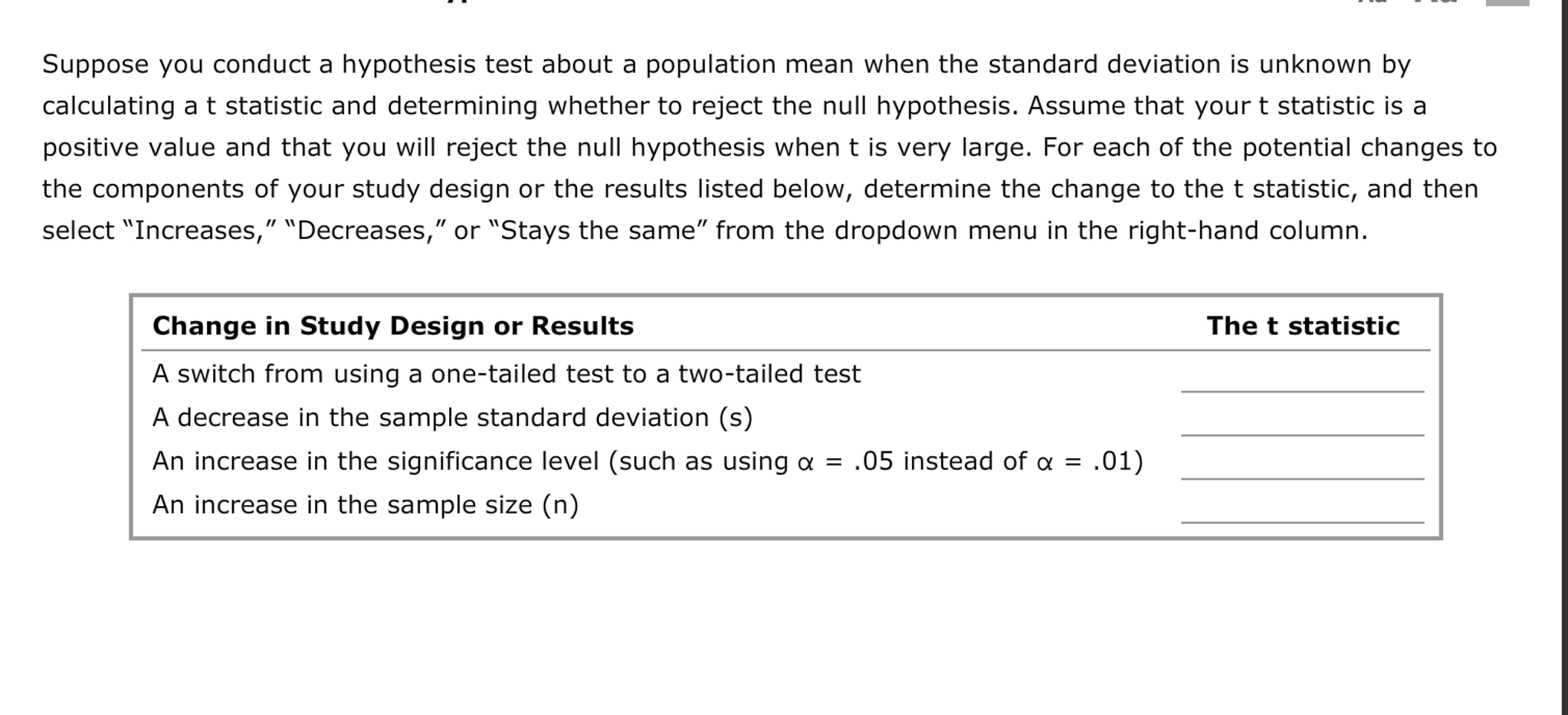 Solved Suppose You Conduct A Hypothesis Test About A Popu