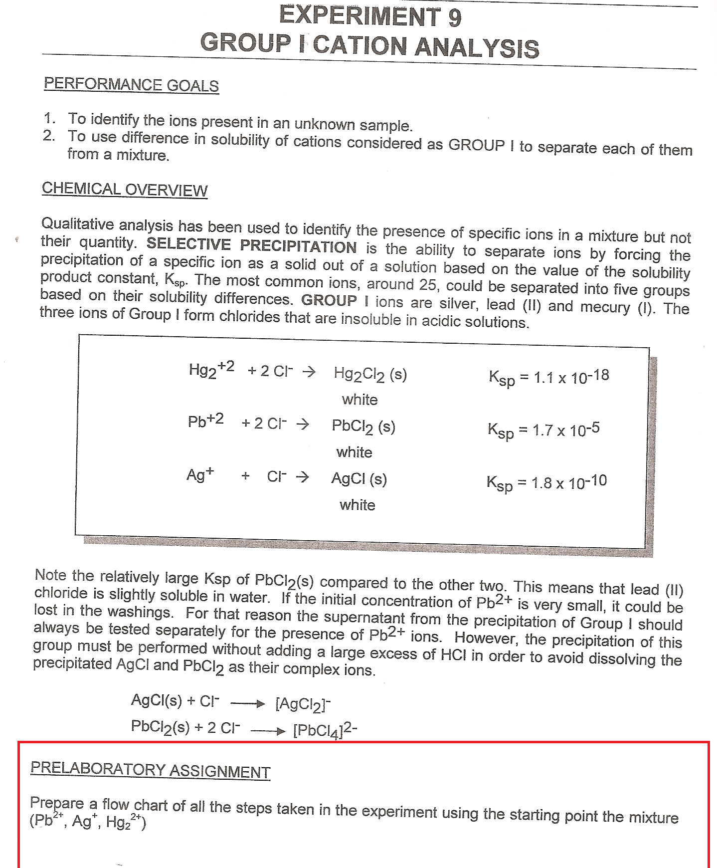 Solved To Identify The Ions Present In An Unknown Sample