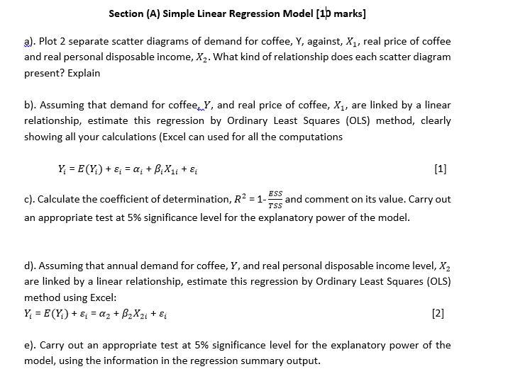 simple linear regression model 1p mar