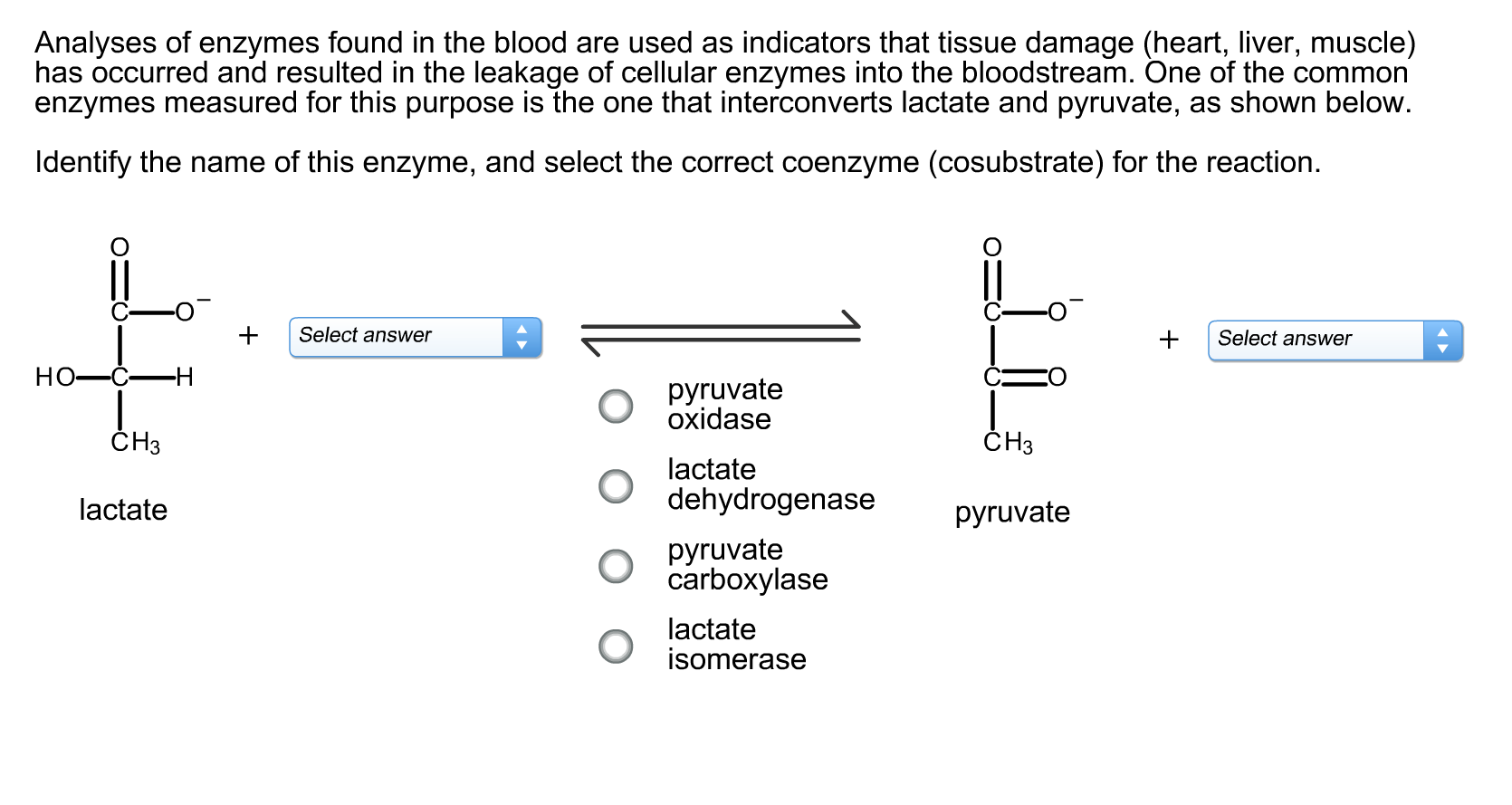 Solvedyses Of Enzymes Found In The Blood Are Used As