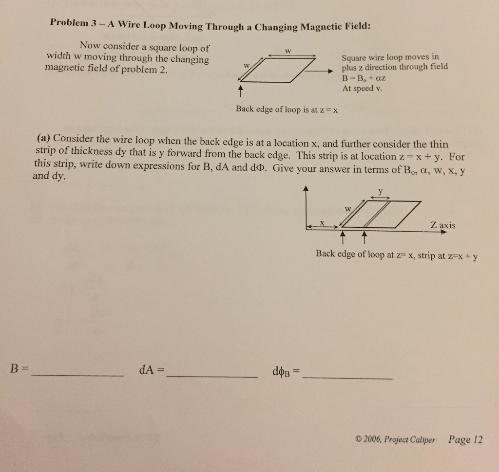 Solved Worksheet 3 Exploring Faraday S Law Moving Through