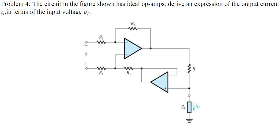 Solved: The Circuit In The Figure Shown Has Ideal Op-amps