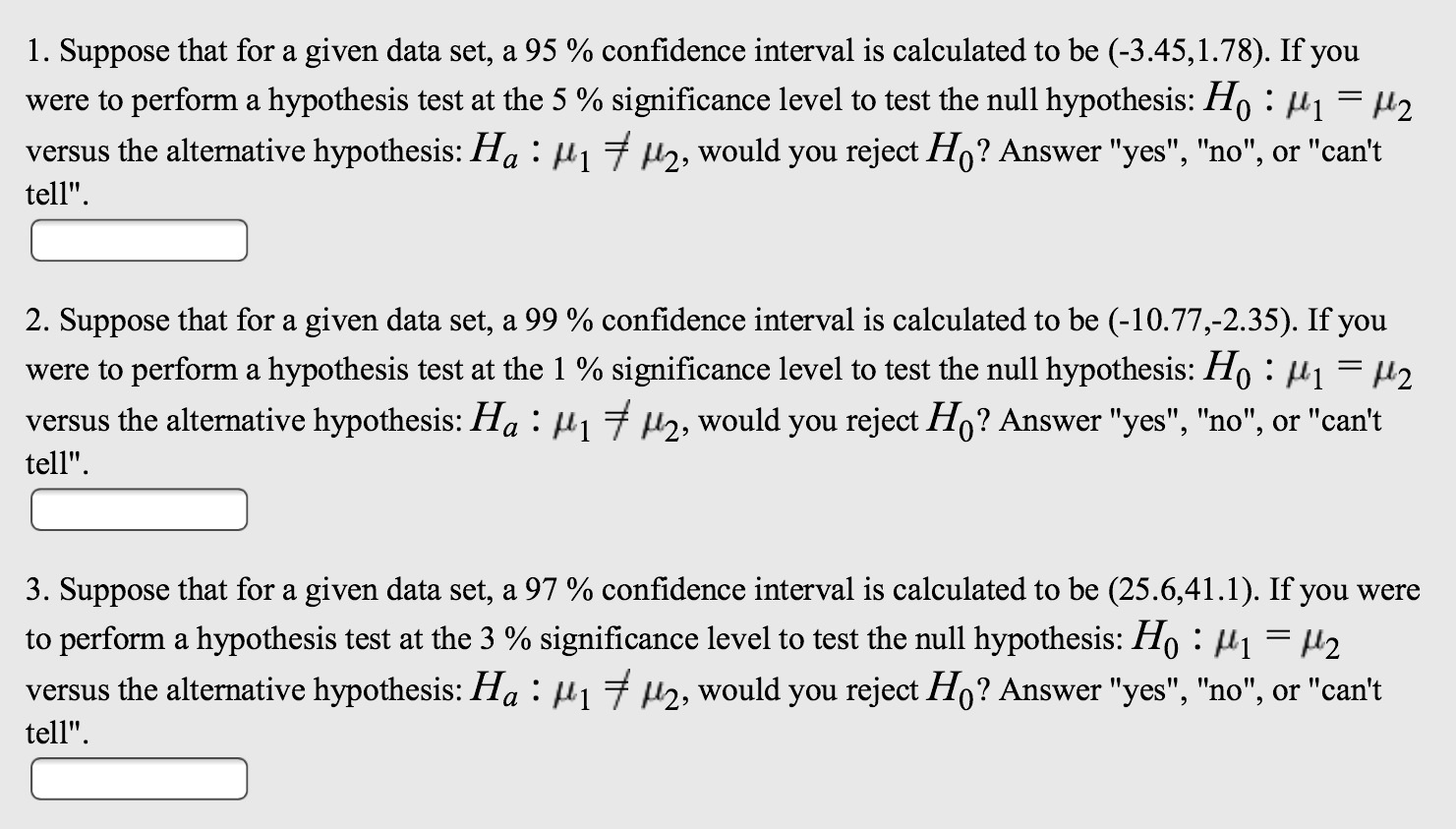 Solved Suppose That For A Given Data Set A 95 Confiden