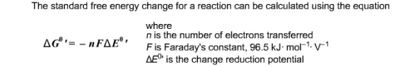 Solved: The Standard Free Energy Change For A Reaction Can ...