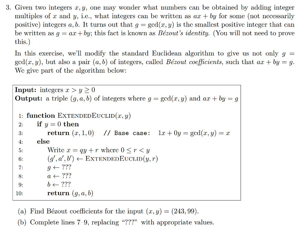 Solved 3 Given Two Integers X Y One May Wonder What Nu