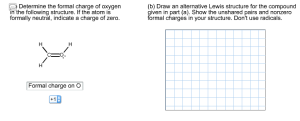 Solved: Determine The Formal Charge Of Oxygen In The Follo