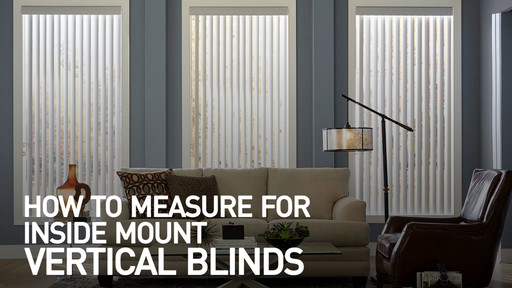 how to measure for inside mount vertical blinds