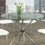 Home Designs Staging Group Inc Products Tables Small Round Glass Dining Table With Chrome Legs