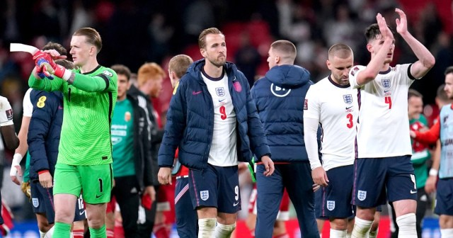 England players walk off the pitch